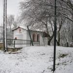 το εξωκλήσσι του Αγίου Κοσμά του Αιτωλού , στο Πάρκο των Ηπειρωτών