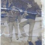 έξω από το Μουσείο της  Σπάρτης , το 1960